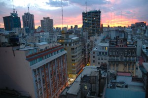 Sunset over Buenos Aires