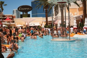 Encore Beach Club is a popular summer spot