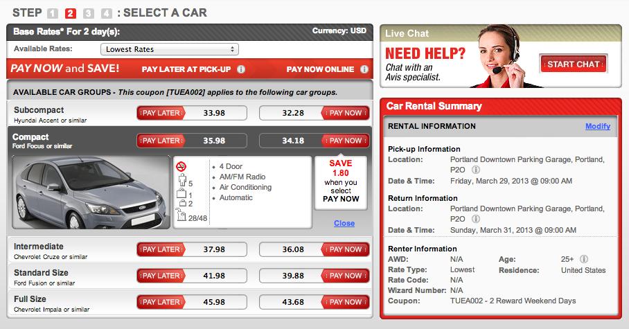 Weekend car rental deals nyc 15