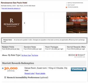 Marriott Rewards rates in Sao Paulo