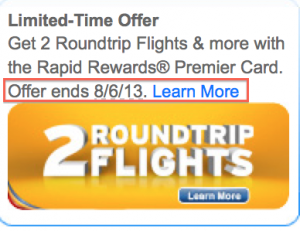 The 50,000 point offer is ending August 6th