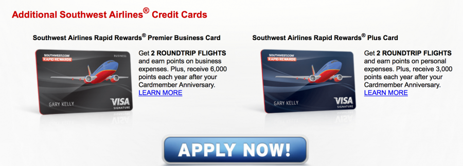 Chase southwest 50000 point sign up bonuses to end august for Southwest premier business card 50000