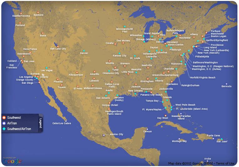 Airtrans Flight Map