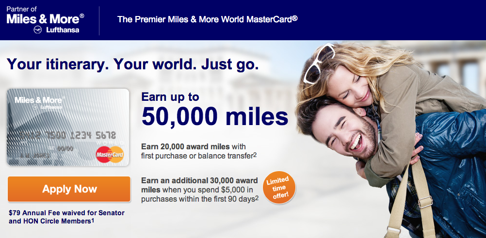 Get 50,000 Lufthansa miles - 2 flights within the US or 1 flight to Europe!