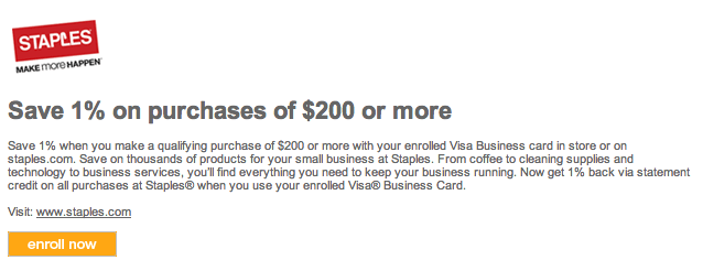 Earn 5x to 12x on 200 visa gift cards at staples colourmoves