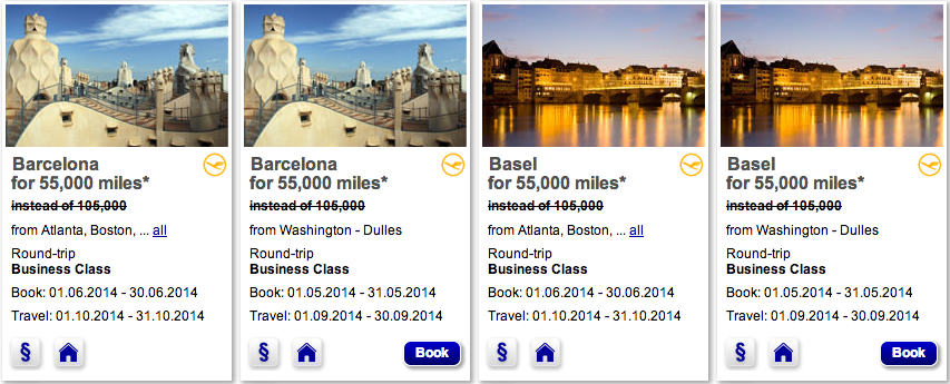 <center>It's only 50k miles for a round trip Business Class Mileage Bargain award to Europe</center>