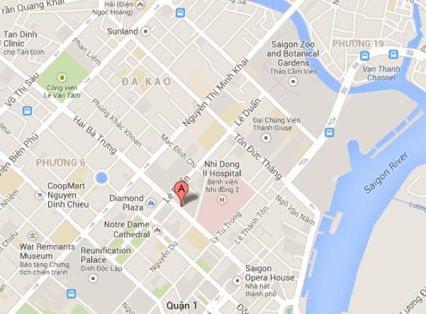 Map of Intercontinental Asiana Saigon