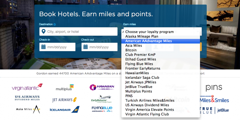 You can choose which airline to earn miles with