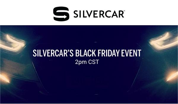 silvercar black friday event sale