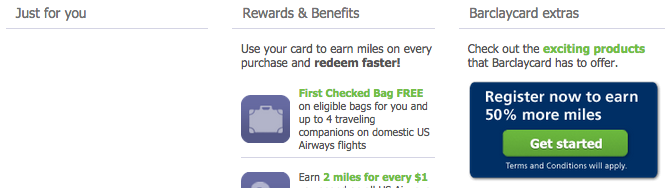 Barclays Promotion Earn 50 More Miles with Your US Airways Dividend Miles MasterCard-01