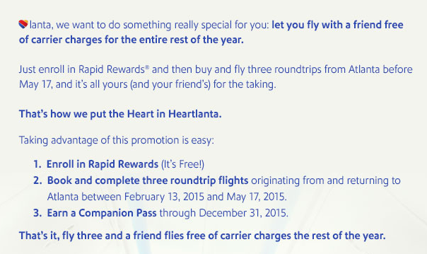 Southwest Offering Atlanta Residents Free Companion Pass After 3 Flights_02