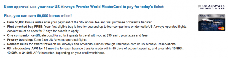 Is The US Airways MasterCard Application Being Pulled April 12