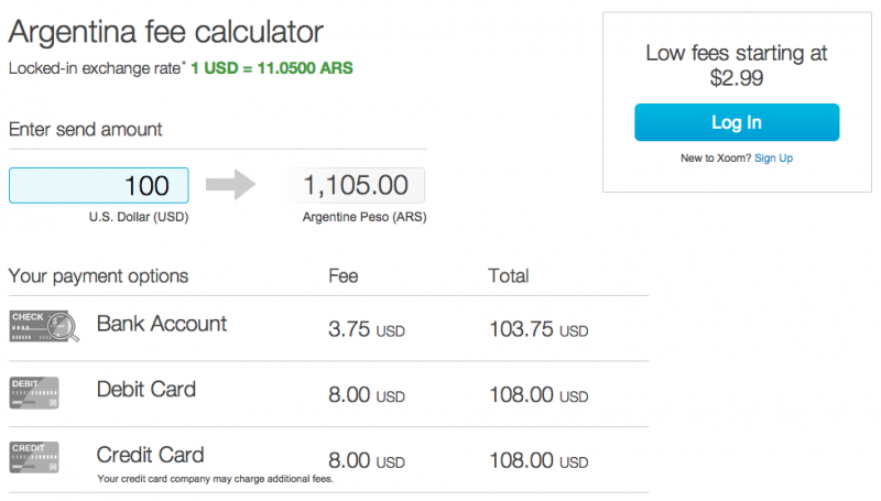 Use Xoom To Get Close Blue Dollar Exchange Rate When Traveling Argentina 05