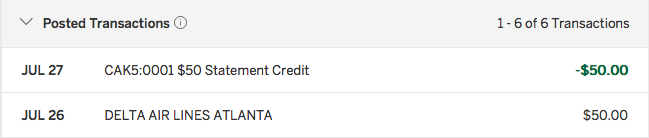 Data Point: Gift Cards Work For Gold Delta Amex $50 Statement ...