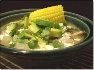 A delicious bowl of Ajiaco soup
