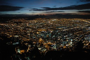 Bogota's amazing night skyline from Cerro de Monserrate, eat dinner up here for an amazing experience ©Rand Shoaf