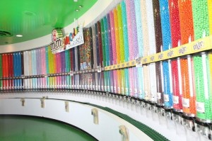 M&M World with an endless amount of colors and types