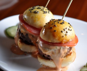 Beef sliders from STK