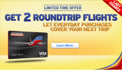 'Last chance' to get the offer on the Southwest website