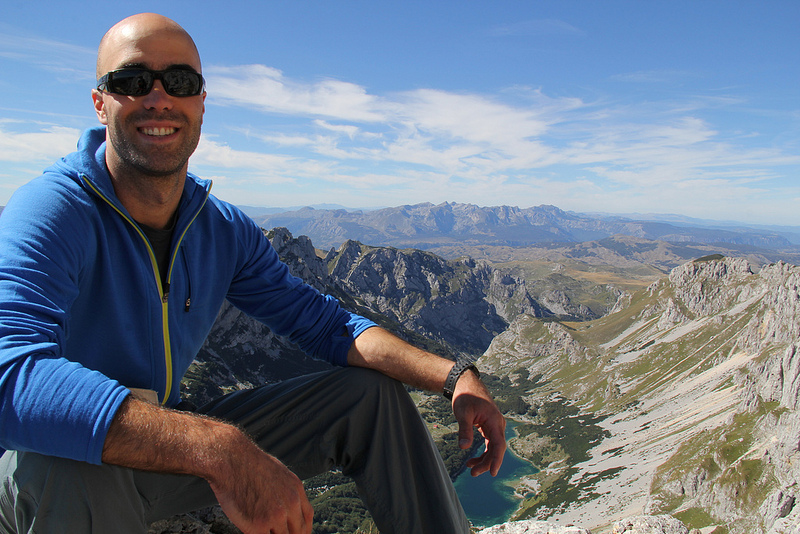Sitting on top of Bobotov Kuk at 2,523 m
