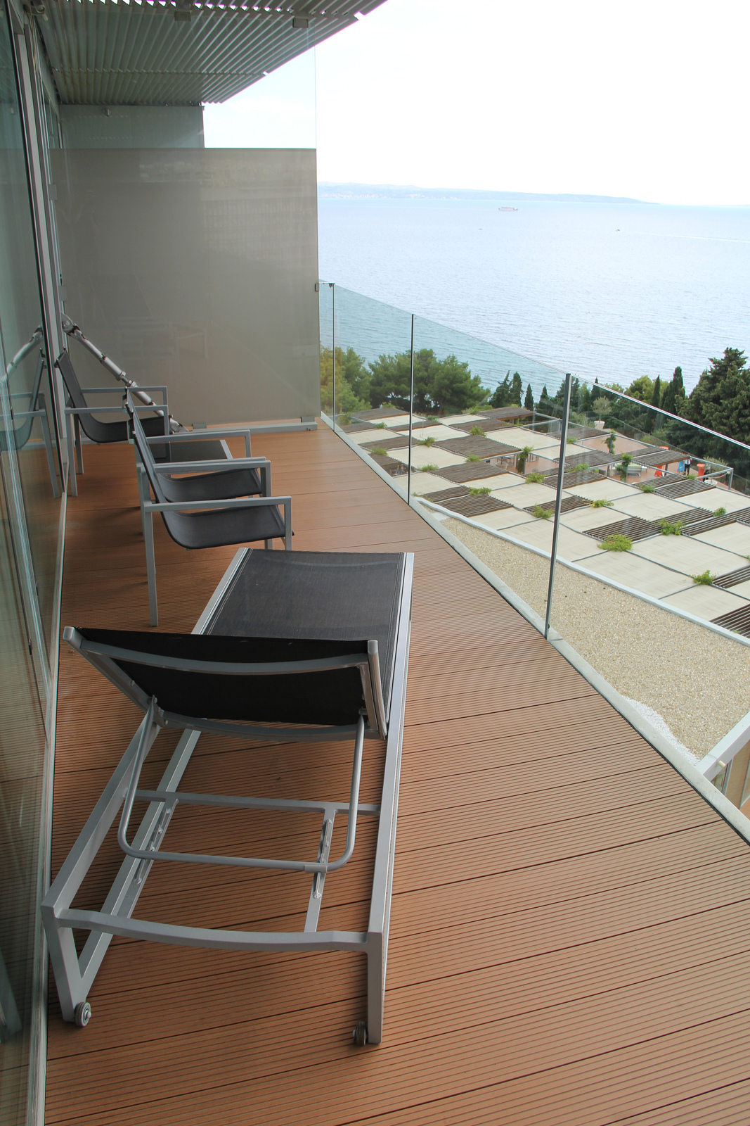 The balcony of our junior suite