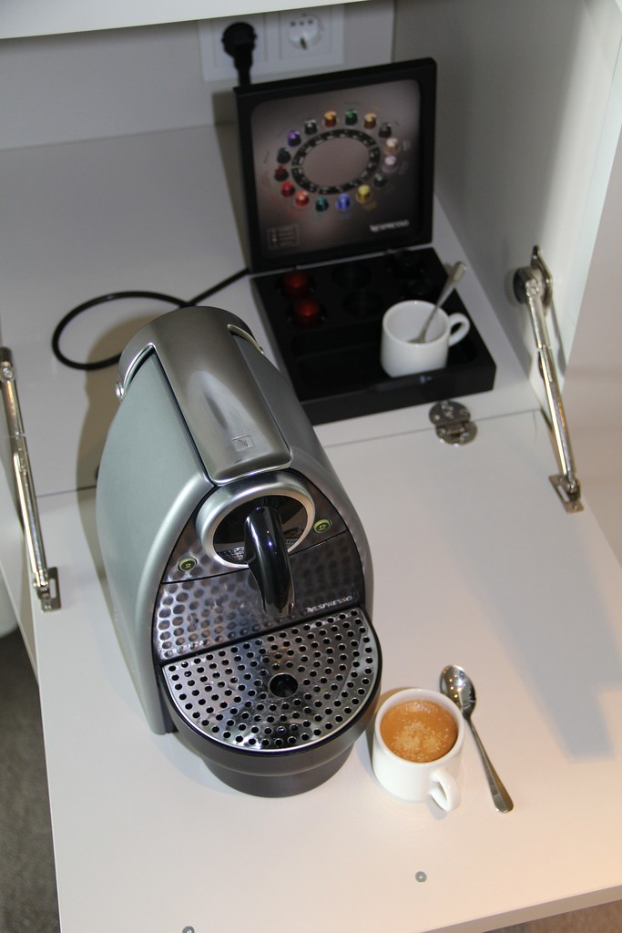 The Nespresso machine in our suite is hard to beat by regular drip coffee