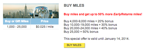 Get a 50% bonus on purchase Frontier miles