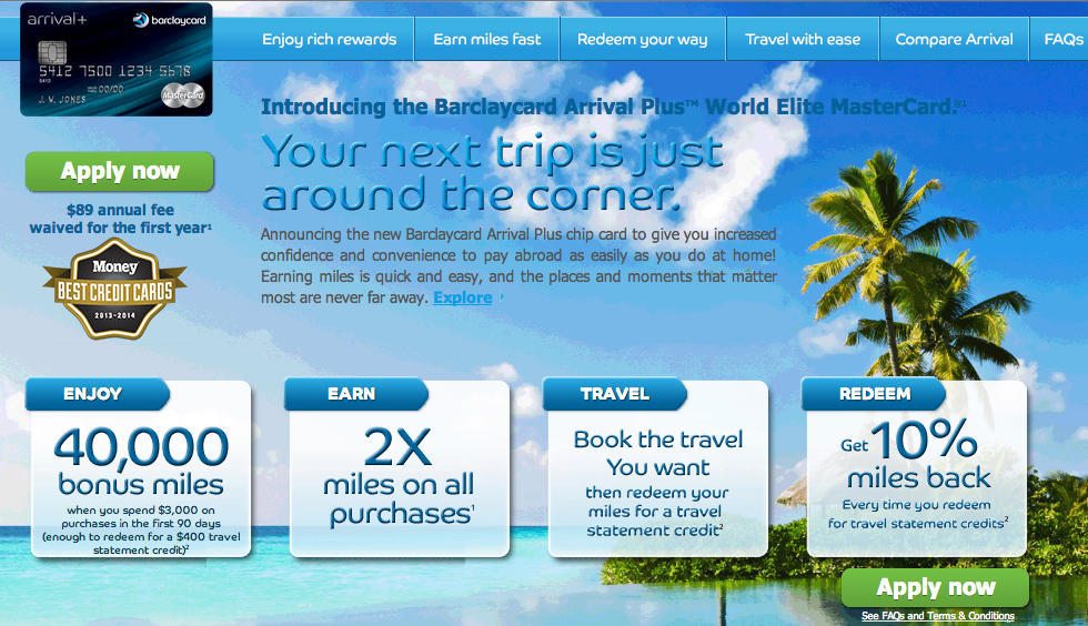 Get 40,000 miles that are worth $444 in free travel