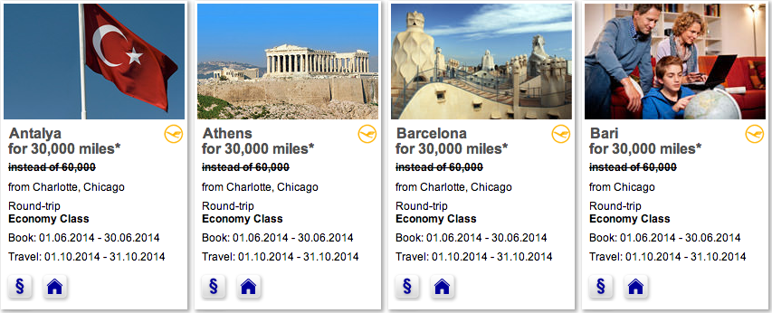 It's only 30k miles for a round trip economy class Mileage Bargain award to Europe