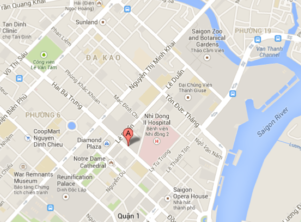 Map of Intercontinental Asiana Saigon