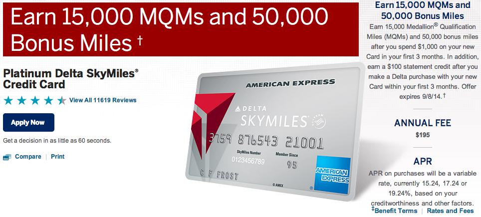 Amex Delta 50,000 miles