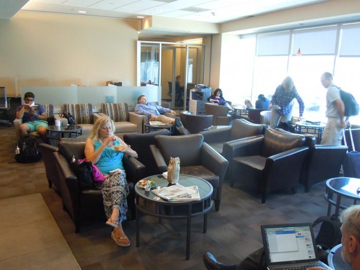 Alaska Airlines Board Room Lounge Review Portland Oregon PDX_02