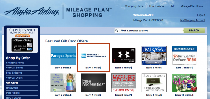Amex Gift Cards Back to Airline Shopping Portals_02