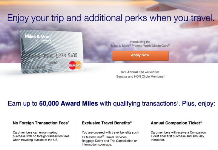 Lufthansa Premier Miles and More Mastercard 50,000 Mile Welcome Offer Is Back_02