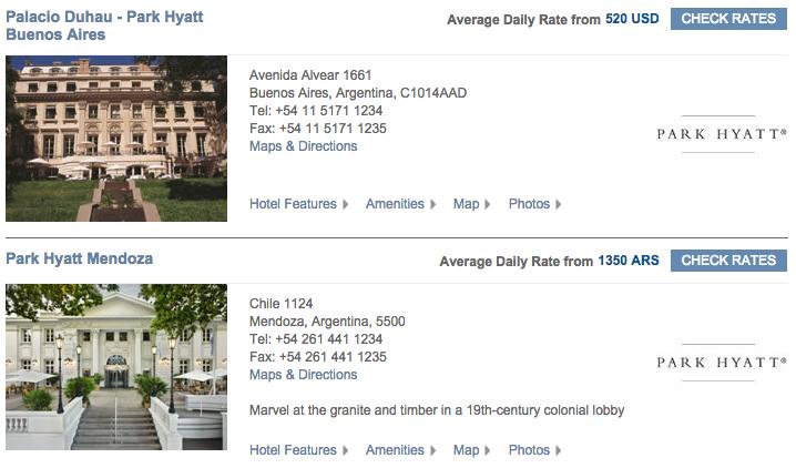 Park Hyatt Mendoza and Park Hyatt Buenos Aires