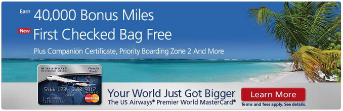 US Airways Mastercard 40000 Welcome Offer