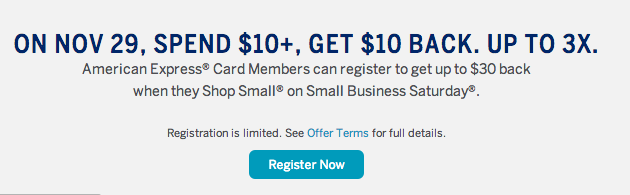 Earn $10 Per Amex Card During Small Business Saturday_02