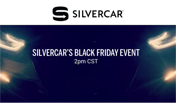 silvercar black friday event sale