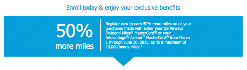 Barclays Promotion Earn 50 More Miles with Your US Airways Dividend Miles MasterCard-02