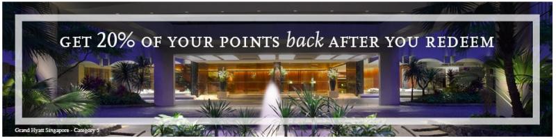 Hyatt Credit Cardholders Get Points Back When You Redeem-1
