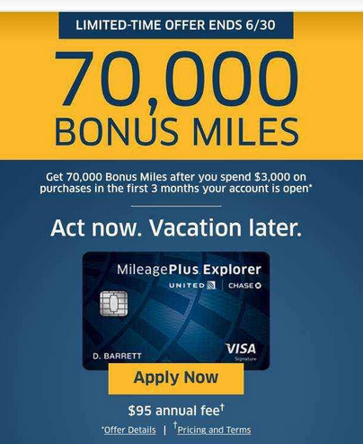 70,000 Mile Welcome Offer on United Explorer Card is Live-01