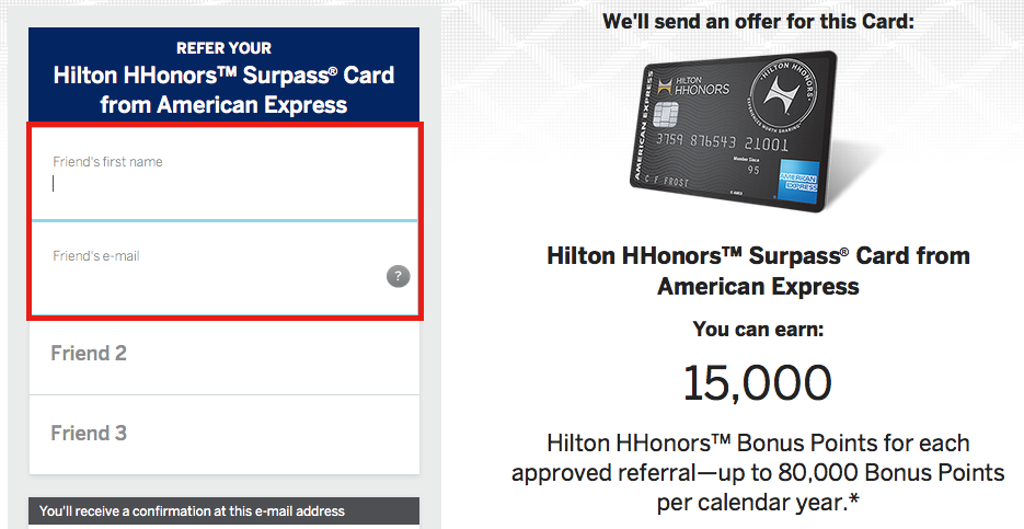 How To: Amex Refer-a-Friend Bonus for Hilton Credit Cards