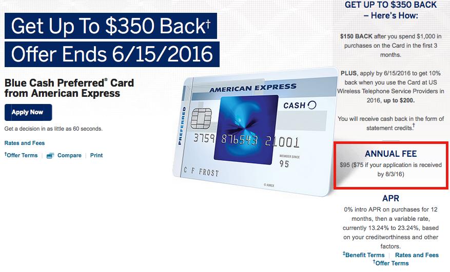 Annual Fee Increasing to $95 on AMEX Blue Cash Preferred Card-01